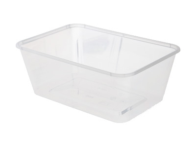 Plastic Rectangular Containers 1000ml with Lids Qty 500